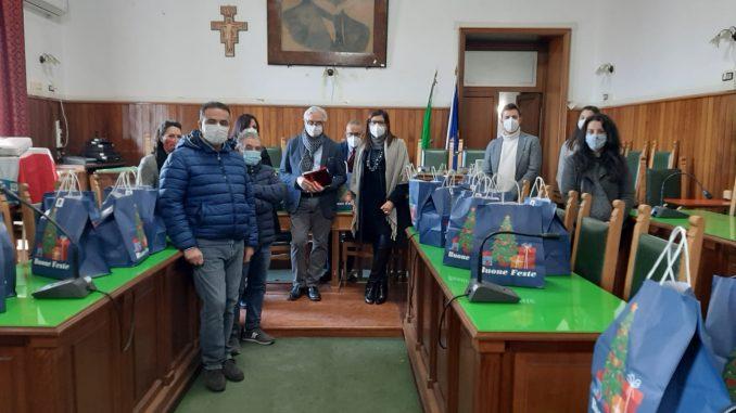 La Proloco ed il sindaco di Sarno, Giuseppe Canfora