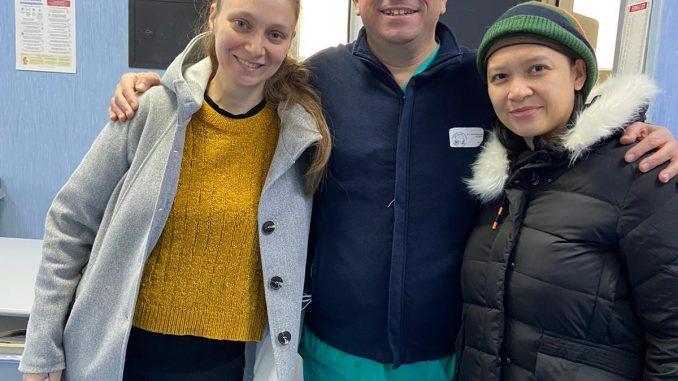 Il dottor Polichetti con le due pazienti